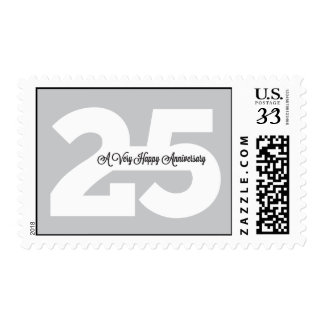 25th Anniversary Custom Stamps in Gray
