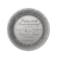 25th Anniversary Dinner Plate