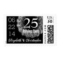 25th Anniversary Elegant SILVER Roses Wreath V02 Postage