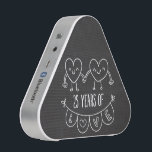 """25th Anniversary Gift Chalk Hearts Speaker<br><div class=""""desc"""">Cute two doodle hand drawn heart 25th year anniversary design.</div>"""