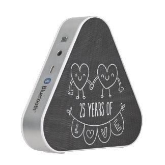 25th Anniversary Gift Chalk Hearts Speaker