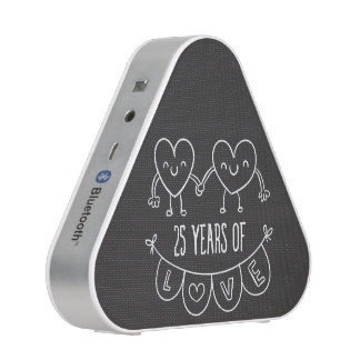 25th Anniversary Gift Chalk Hearts Speaker