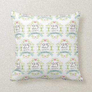 25th Anniversary Gift Idea Laurel Throw Pillow