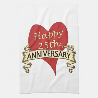 25th. Anniversary Hand Towel