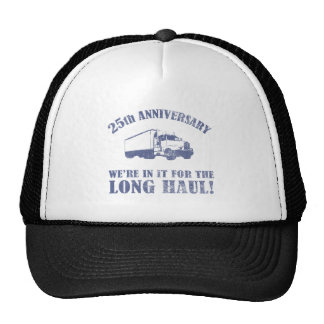 25th Anniversary Humor Long Haul Mesh Hat