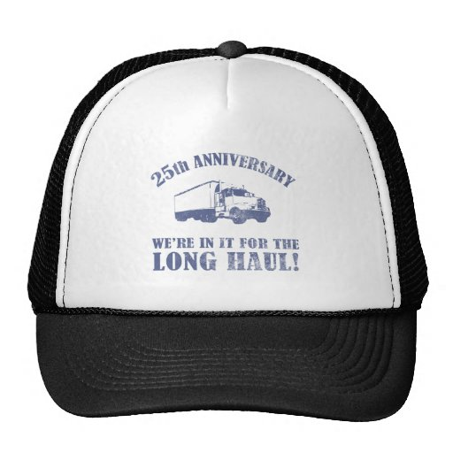 25th Anniversary Humor (Long Haul) Mesh Hat