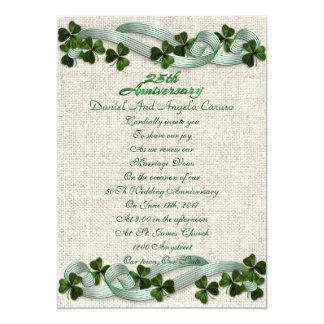 25th Anniversary Invitation Irish theme