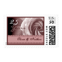 25th Anniversary Invitation PINK Rose Lace Stamp