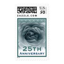 25th Anniversary Invitation Rose Stamp
