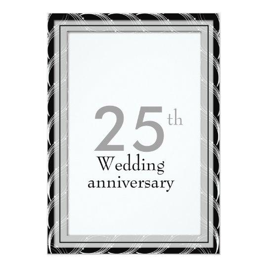 25th Anniversary Invitations - Silver