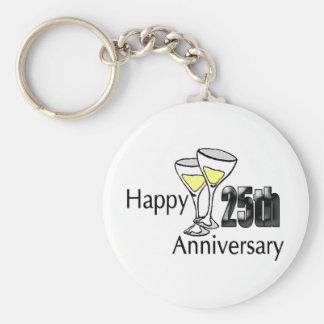 25th anniversary keychain