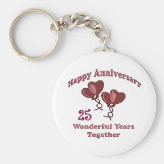 25th. Anniversary Keychain
