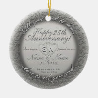 25th Anniversary Ornament Template