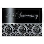 25th Anniversary Party (Chaucer/black silver) Cards