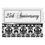 25th Anniversary Party (Chaucer/black & white) Greeting Card