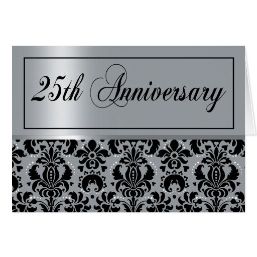 25th Anniversary Party (Chaucer/silver black) Cards