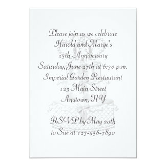 25th Anniversary Party Custom Announcements