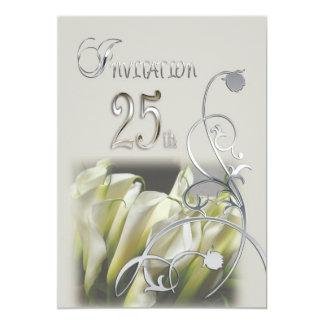 25th Anniversary Party Invitation - Calla Lilies