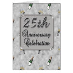 25th Anniversary Party Invitation Cards