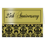 25th Anniversary Party Invitation (Chaucer/golden) Greeting Cards