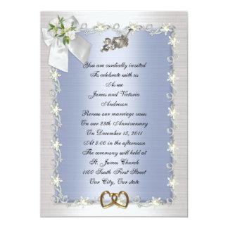 25th Anniversary party invitation elegant
