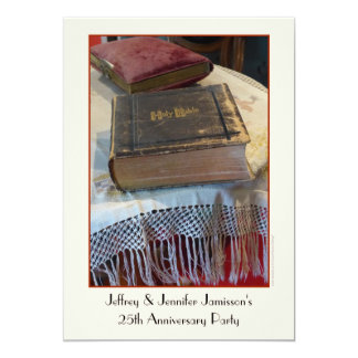25th Anniversary Party Invitation Vintage Bible