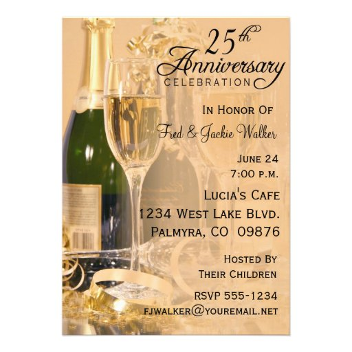 25th Anniversary Party Invitations