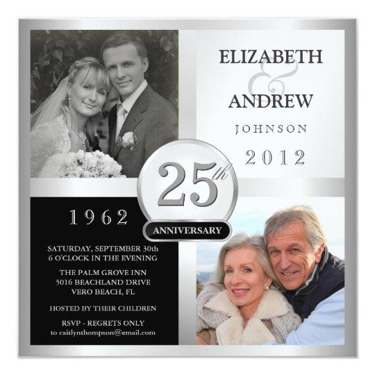 25 Year Wedding Anniversary Party Ideas: 25th Anniversary Party Invitations - 2 Photos