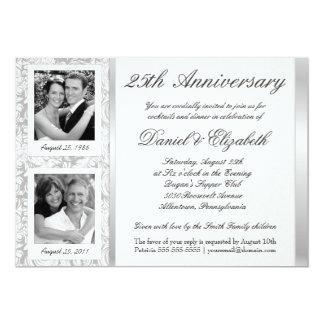 25th Anniversary - Photo Invitations - Then & Now