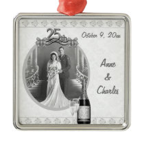 25th Anniversary Photo Keepsake Ornament