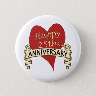25th. Anniversary Pinback Button