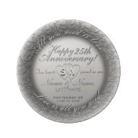 25th Anniversary Porcelain Plate