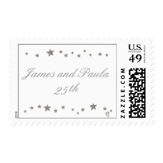 25th Anniversary postage stamps, silver stars