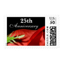 25th Anniversary Red Rose Postage Stamp