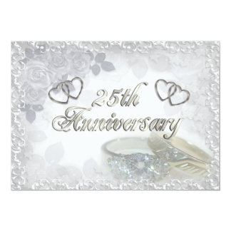 25th Anniversary rings Invitation