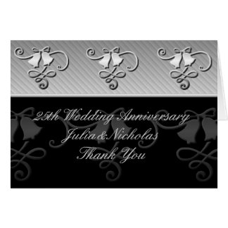 25th Anniversary Silver and Black Card