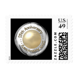 """25th Anniversary (""""Silver"""" and """"Pearl"""" '3-D') Stamps"""