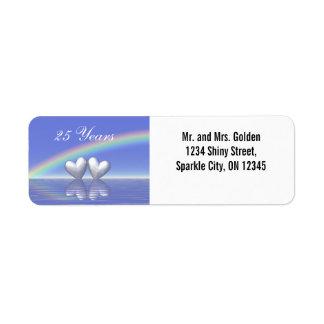 25th Anniversary Silver Hearts Label