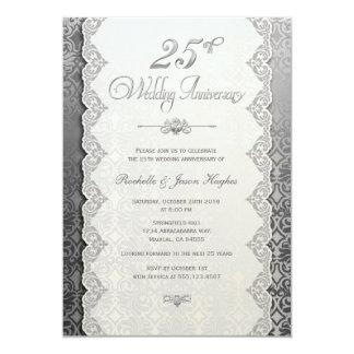25th Anniversary Silver Invitation