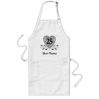 25th Anniversary - Silver Long Apron