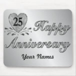 25th Anniversary - Silver Mouse Pads