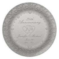 25th Anniversary Silver Plate
