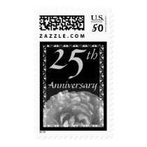25th Anniversary Silver Rose Stamp