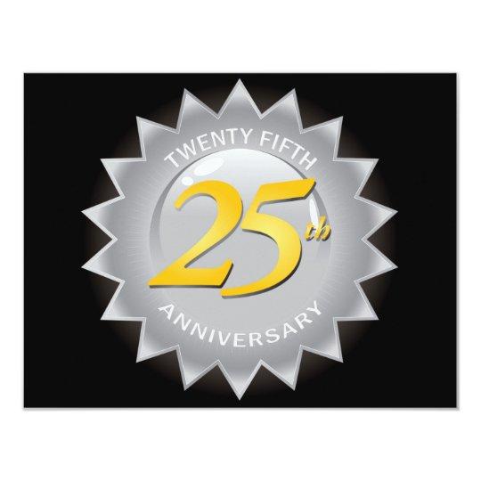 25th Anniversary Silver Seal Card