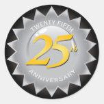 25th Anniversary Silver Seal Classic Round Sticker