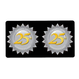 25th Anniversary Silver Seal Label