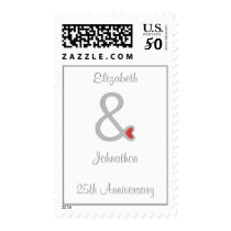25th Anniversary Stamps, names And & Sign Template Postage