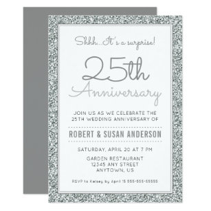 25th Anniversary Invitations Zazzle