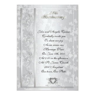 25th Anniversary vow renewal invitation
