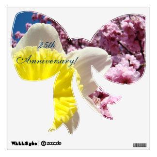 25th Anniversary wall decals Ribbon Bows Spring